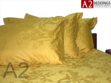 sprei king koil coklat gold